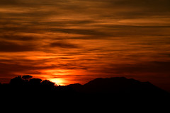 Tramonto sulle colline Sabine (luporosso) Tags: natura nature naturaleza naturalmente nikon nikond500 nikonitalia tramonto sunset colline hills silhouette siluetas backlight backlit nuvole clouds soratte montesoratte lazio