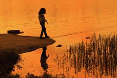 Siluett (bjarne.stokke) Tags: ashley motlys redigertavashley haugesund haraldsvang solnedgang speiling sunset siluett norway norge norwegen noreg