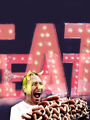 IMG_6338 (clarismagl) Tags: gluttony 7 deadly sins hot doh dog pig eat digital collage clarismagl