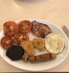 Bridge Street Breakfast . (AndrewHA's) Tags: hertfordshire bishopsstortford food breakfast bridgestreet cafe bacon egg black pudding tomato sausage hash brown