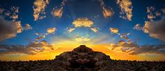 Desert Gold (East of 29) Tags: desertgold sunset goldenlight desert clouds sky rocks joshuatreenationalpark indiancove sliderssunday