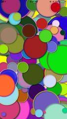 Slower Colors and Shadows (sjrankin) Tags: 5622mb huge test sample colors circles shadows outlines cellphone 1october2018 edited app output video