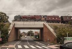 46233 6233 Duchess of Sutherland  Cow Lane Bridge Reading 2018-10-11_17 (Amys-pics) Tags: 46233 6233 duchessofsutherland lms londonmidlandscottish duchessclass sirwilliamstanier reading 462