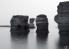 Monoliths in Mono - 1 (A.Reef) Tags: rocks monoliths bw monochrome tranquil mingan
