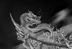 Dragon (Cyclase) Tags: dragon drache taiwan asia temple tempel dach roof blackandwhite asien monochrome bw statue art kunst shrine sculpture travel gebäude building sky himmel kultur culture reisen pagoda pagode ornate verzierung