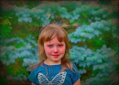 Little Butterfly (jta1950) Tags: kid child enfant person people portrait children blue 3yearold girl fille little cute adorable texture