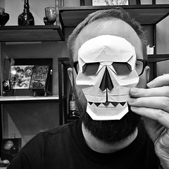291/365: Skull mask, designed by me. (mehjg) Tags: skull halloween dayofthedead