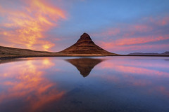 Stunning Sunset, Kirkjufell, Snaefellsnes Peninsula, Iceland (MelvinNicholsonPhotography) Tags: kirkjufell iceland sunset mountain reflections clouds sky colour pink blue snaefellsnespeninsula