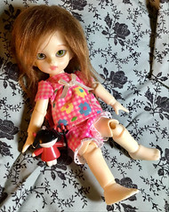 Little Devil (daydreamdandelion) Tags: bjd balljointeddoll dollinmind dim dsilf silf toddler vampire devil honey doll