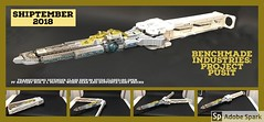 Benchmade Industries:Project Pusit (1brick) Tags: shiptember2018 lego spaceship