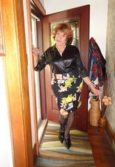 Sunday Morning Ensemble (Laurette Victoria) Tags: skirt auburn woman laurette blouse