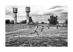 Kids (Paphylo) Tags: instagram ukrainevillage landscape monochome children nikond810 reallife odessa blackandwhite kids football countryside countrylife document