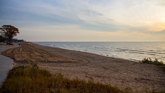 Strolling Neshotah Beach (Lester Public Library) Tags: beach beaches neshotahbeach neshotah neshotahpark lakemichigan lake water sunrise morning sand sun clouds tworiverswisconsin tworivers wisconsin greatlakes lesterpubliclibrarytworiverswisconsin readdiscoverconnectenrich