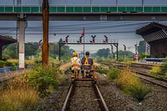 Playing with my train set (grantthai) Tags: train tracks rails railway bogie trackside srt thailand ban phachi banphachi