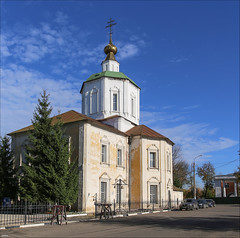Autumn in Tver (ArtDen82) Tags: autumn tver russia foliage church architecture orthodox design sky clouds river monastery volgariver volga тверь россия волга city tree building park people photo alley road tower wall