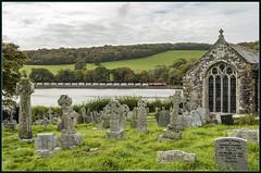 St Winnows (Blaydon52C) Tags: st winnow church fowey cornwall scenic graveyard gravestones estuary river stone stones china clay 66165 gm dbschenker dbs