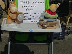 Bébé à vendre - Baby for sale (p.franche Occupé - Buzzy) Tags: bébé avendre brocante siègedebébé humour streetshot été lx3 panasonic lumix baby forsale fleamarket babyseat humor summer softtoys schaerbeek schaarbeek bruxelles brussel brussels belgium belgique belgïe europe pfranche pascalfranche yourbestoftoday dxo photolab