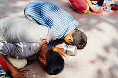 Bowing Pilgrims on Holi (AdamCohn) Tags: adam cohn uttar pradesh india mathura vrindavan holi pilgrim pilgrimage pilgrimmage pilgrims streetphotographystreetphotographer wwwadamcohncom adamcohn uttarpradesh isapurbanger