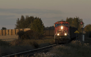Last Light on the Vegreville Sub