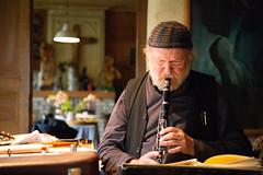 The composer (paul indigo) Tags: belgium paulindigo willemvermandere artist composer indoors man musician people performance portrait