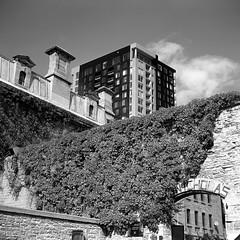 Nicholas St. Gaol (Howard Sandler (film photos)) Tags: nicholasstreet ottawa film square mediumformat 6x6 zeiss superikonta acros tessar