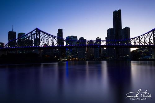Story Bridge in blue