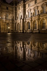 Paris in rainy day (Aziz Peps) Tags: louvre museum louvres palace chateau reflexion reflection reflecting rain rainy lowlight architecture paris parisian france french frenchy castelhistoryfrench frenchrevolution nikkor nikon nikonflickraward trip travel wet ground beautiful beauty peaceful