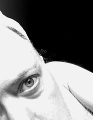 Day 2421: Day 231: One eye (knoopie) Tags: 2018 august iphone picturemail oneeye 1920 doug knoop knoopie me selfportrait 365days 365daysyear7 year7 365more day2421 day231