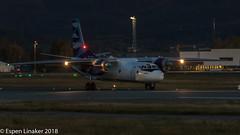 UR-CQD Vulkan Air Antonov An-26B (Otertryne2010) Tags: 2018 2k18 enva norge norway trd trondheim værnes vulkan air antonov an26b landing dark night