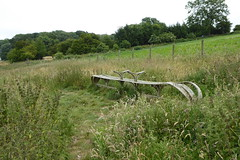 Another of the arty Yorkshire Wolds Way benches (Bods) Tags: wharramlestreettogantonwalk yorkshirewoldsway eastheslertonbrow northyorkshire yorkshirewoldswayday4 yorkshirewoldswaybench walk