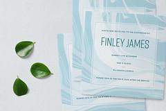 Baby Boy Christening Invites (AIM Designs) Tags: invitations design marble invite christening baptism naming baby boy personalised luxury blue pastel