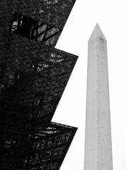 D.C. Geometry (Mondmann) Tags: nationalmuseumofafricanamericanhistoryandculture museum smithsonian smithsonianinstitution washingtonmonument contrast blackandwhite bw pb washingtondc usa unitedstates america geometry mondmann canonpowershotg7x