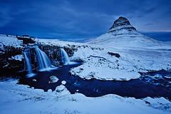 Kirkjufellsfoss (LalliSig) Tags: blue landscape iceland winter snow long exposure lee filters snæfellsnes kirkjufell kirkjufellsfoss water waterfall