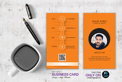 MY CARD ORANGE BASE (anupfpi@ymail.com) Tags: branding graphicsdesign packaging stationary logodesign businesscard letterhead