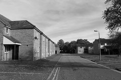 Ghost Town (R.K.C. Photography) Tags: ghosttown blackandwhite ely cambridgeshire mod england unitedkingdom houses empty usaf canoneos100d uk buildings kilkennyavenue minstryofdefence deserted