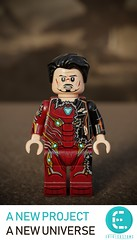Damaged Iron Man / Tony Stark - From Avengers: Infinity War by Erik Customs (Erik Petnehazi) Tags: custom lego avengers infinity war iron man ironman tony stark damaged battle thanos bleeding edge mark l 50