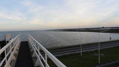 DSCN8799 (DutchRoadMovies) Tags: stevinsluizen afsluitdijk den oever a7 rijksweg ijsselmeer waddenzee bridge lake freeway motorway water sea locks