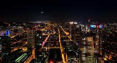 Frankfurt Maintower (st.weber71) Tags: nikon nightshot nachts nachtfotografie nightlights nacht nachtaufnahme night langzeitbelichtung lzb lichter landschaft licht landscape frankfurt maintower d850 deutschland germany illumination grosstadt