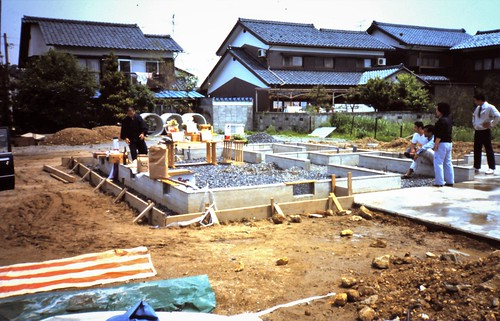 Ceremony of ground-breaking (Shinto's jichin-sai)