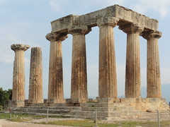 Ancient Corinth (michael kogan) Tags: archaeology ancient greece temple huge structure columns