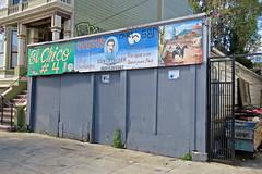 El Chico #4, San Francisco, CA (Robby Virus) Tags: sanfrancisco california sf ca el chico 4 mission district sign signage garage door quesos produce market latino hispanic grocer grocery cheese donfrancisco