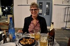 fullsizeoutput_940d (lnewman333) Tags: sifnos siphnos greece europe cyclades apollonia kamposhome view aegeansea village island taverna restaurant meal dinner greekcuisine greekfood beer potato