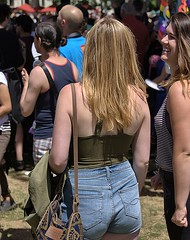 A Walk In The Park (Scott 97006) Tags: woman female lady blonde backside pretty shorts