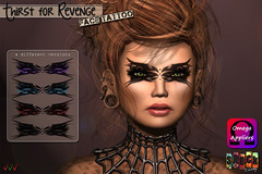 [ S H O C K ] Thirst for Revenge - Face Tattoo Omega Applier ([ S H O C K ] Factory (Ilary Resident)) Tags: system shockfactory shock face tattoo secondlife omega appliers