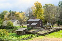Scenic (Chancy Rendezvous) Tags: chancyrendezvous davelawler blurgasm fall autumn foliage sturbridge massachusetts oldsturbridgevillage osv osvorg museum farm field trees village rural american lawler