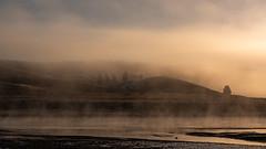 Misty Morning at Hayden Valley ((JAndersen)) Tags: haydenvalley yellowstonenationalpark yellowstone yellowstoneriver wyoming usa landscape fog mist sunrise bison nature wildlife nikon nikkor2470mmf28ged d810
