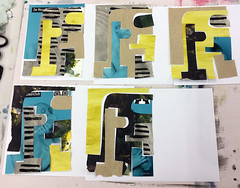 Serie Türkis/Gelb (MKP-0508) Tags: collage mannheim jeromin workshop amliebstenbunt kristinaschaper papier paper aufpapier kunterbunt bariolé motley schaper