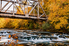Spanning the Powell (Back Road Photography (Kevin W. Jerrell)) Tags: autumn autumnbeauty fall backroadphotography nikond7200 colorful rivers appalachia wisecounty virginia