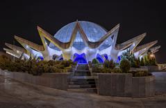 Gonbad Mina Planetarium, Tehran, Iran (D. Scott McLeod) Tags: gonbadminaplanetarium tehran iran night planetarium colorful panorama dscottmcleod scottmcleod