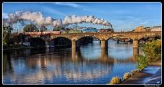 ČD_464.102_477.043_Praha-Prague_Negrelliho viadukt_ Negrelli Viaduct_Vltava_Praha 7 - Holešovice_Czechia (ferdahejl) Tags: čd 464102 477043 praha prague negrellihoviadukt negrelliviaduct vltava praha7holešovice czechia dslr canondslr railway eisenbahn steamlocomotive dampflok locomotive letrain canon eos 550 d